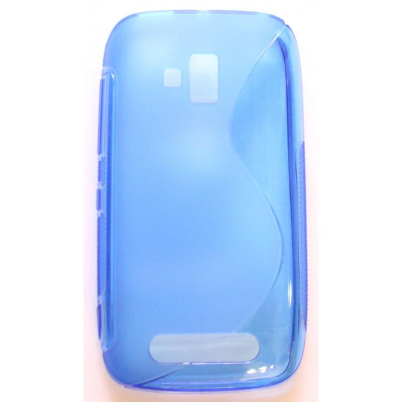 Lumia 610 sininen silikonisuojus.