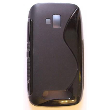 Lumia 610 musta silikonisuojus.
