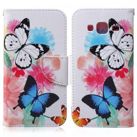 Samsung Galaxy J3 2016 kaksi perhosta puhelinlompakko