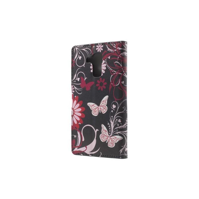 Huawei Honor 7 Lite kukkia ja perhosia puhelinlompakko