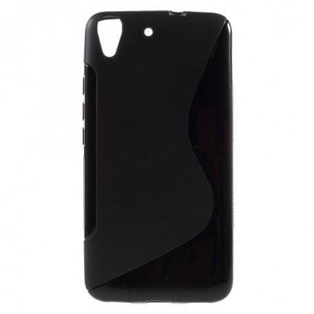 Huawei Y6 musta silikonisuojus.