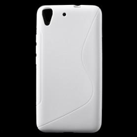 Huawei Y6 valkoinen silikonisuojus.