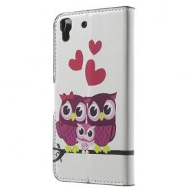 Huawei Y6 pöllöperhe puhelinlompakko