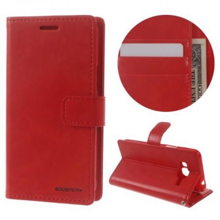 Samsung Galaxy J3 2016 punainen puhelinlompakko