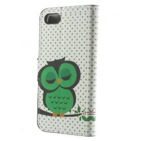 Apple iPhone 7 vihreä pöllö puhelinlompakko