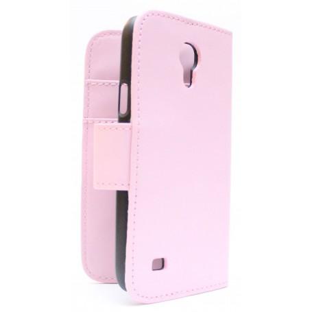 Galaxy S4 Mini vaaleanpunainen puhelinlompakko