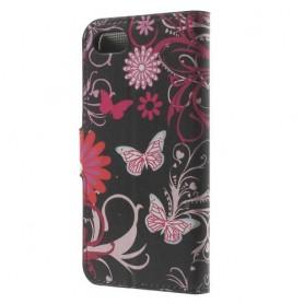 Apple iPhone 7 kukkia ja perhosia puhelinlompakko
