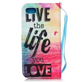 iPhone 7 live life puhelinlompakko