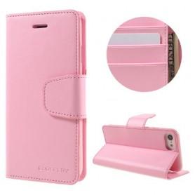 iPhone 7 vaaleanpunainen puhelinlompakko