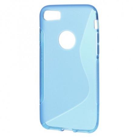 iPhone 7 sininen silikonisuojus.