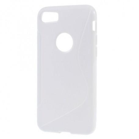 iPhone 7 valkoinen silikonisuojus.