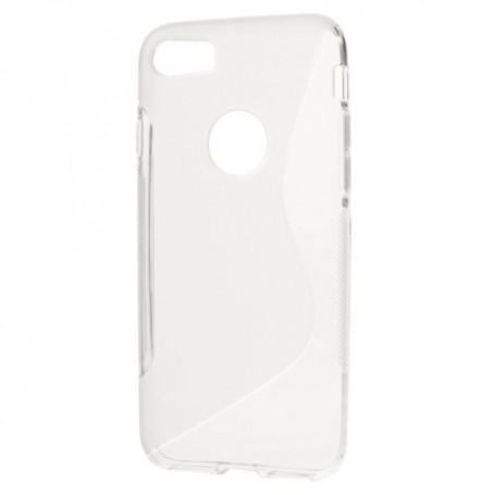 iPhone 7 läpinäkyvä silikonisuojus.