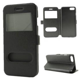 iPhone 7/8/SE 2020 musta ikkunakotelo