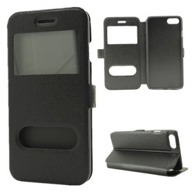 iPhone 7 / 8 musta ikkunakotelo