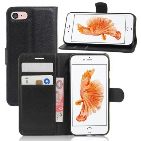 iPhone 7/8/SE 2020 musta puhelinlompakko