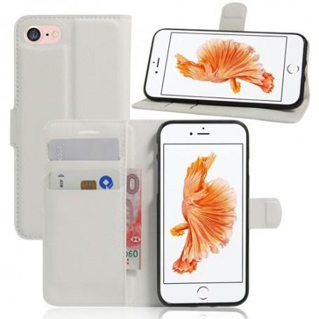 iPhone 6/7/8/SE 2020 valkoinen puhelinlompakko