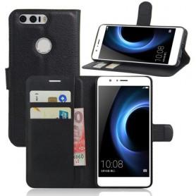 Huawei Honor 8 musta puhelinlompakko