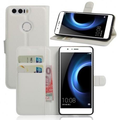 Huawei Honor 8 valkoinen puhelinlompakko