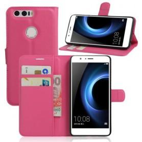 Huawei Honor 8 pinkki puhelinlompakko