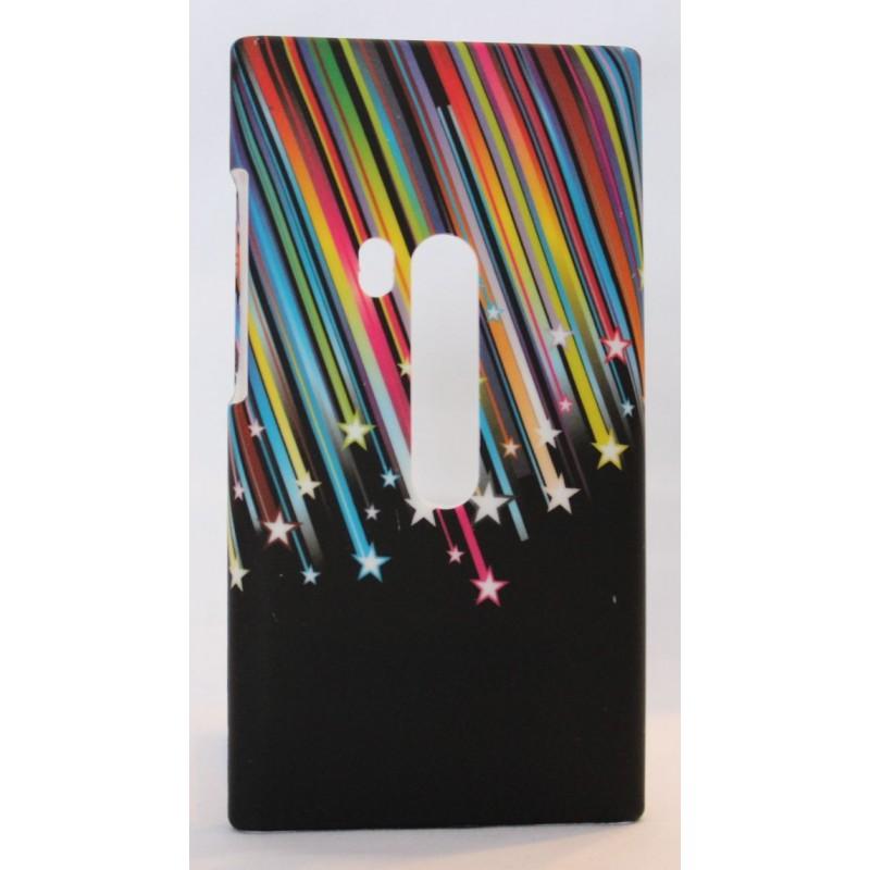 Nokia N9 suojakuori värikäs tähdenlento.