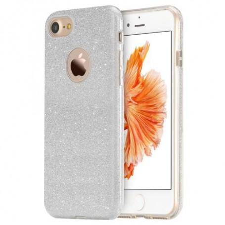 iPhone 7 plus hopean värinen glitter suojakuori.