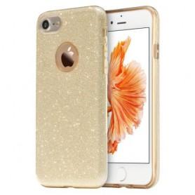 iPhone 7 plus kullan värinen glitter suojakuori.