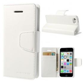 iPhone 5c valkoinen puhelinlompakko