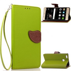 Huawei P9 Lite vihreä puhelinlompakko