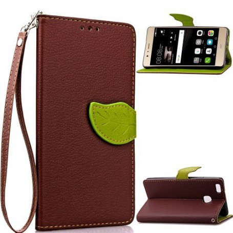 Huawei P9 Lite ruskea puhelinlompakko
