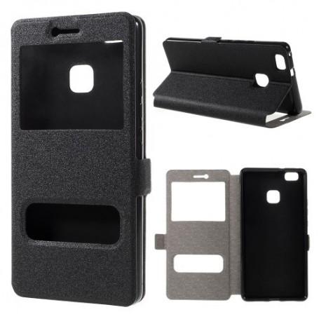 Huawei P9 Lite musta ikkunakotelo
