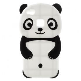 Huawei P9 Lite valkoinen panda silikonisuojus.