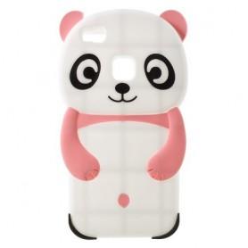 Huawei P9 Lite vaaleanpunainen panda silikonisuojus.
