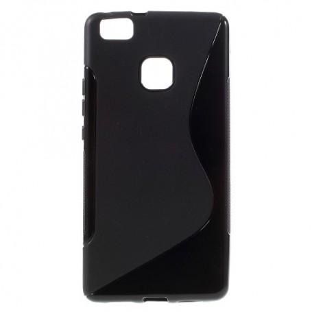 Huawei P9 Lite musta silikonisuojus.