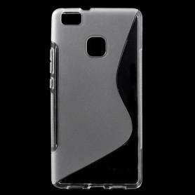 Huawei P9 Lite läpinäkyvä silikonisuojus.