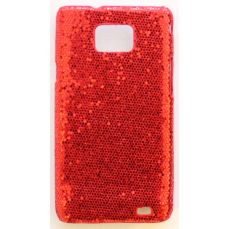 Galaxy S2 punainen glitter suojakuori.