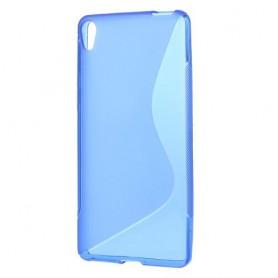 Sony Xperia E5 sininen silikonisuojus.