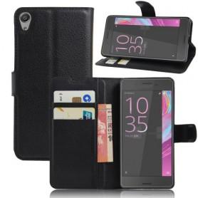 Sony Xperia E5 musta puhelinlompakko