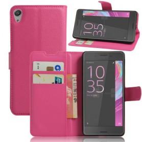 Sony Xperia E5 pinkki puhelinlompakko