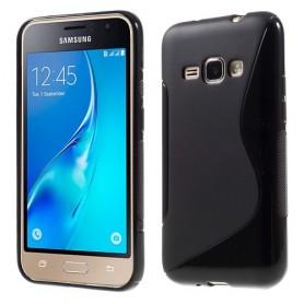 Samsung Galaxy J1 2016 musta silikonisuojus.