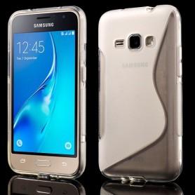 Samsung Galaxy J1 2016 läpinäkyvä silikonisuojus.