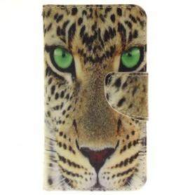 Samsung Galaxy J1 2016 leopardi puhelinlompakko