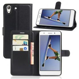 Huawei Y6 II musta puhelinlompakko
