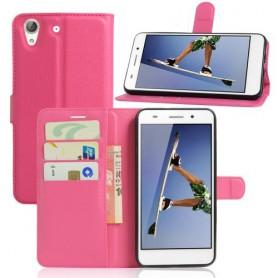 Huawei Y6 II pinkki puhelinlompakko