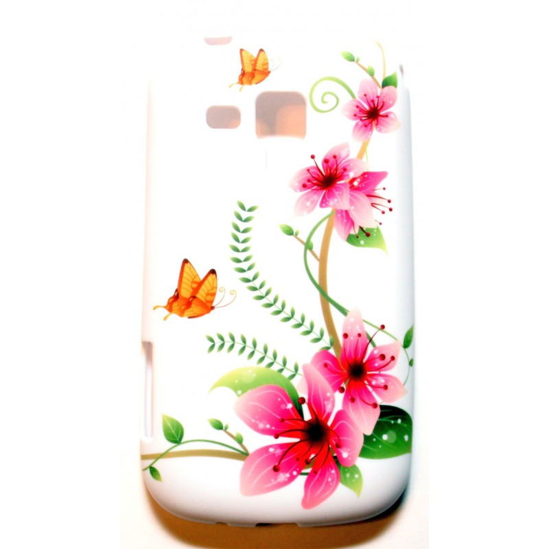 Galaxy Trend kukkia ja perhosia silikonisuojus.