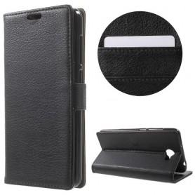 Huawei Y6 II Compact musta puhelinlompakko