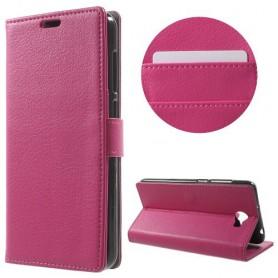 Huawei Y6 II Compact hot pink puhelinlompakko