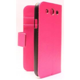 Galaxy S3 Hot Pink lompakkokotelo