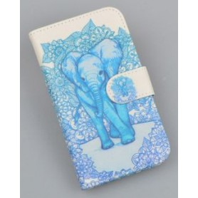 Huawei Honor 7 Lite vaaleansininen norsu puhelinlompakko