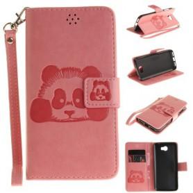 Huawei Y5 II vaaleanpunainen panda puhelinlompakko
