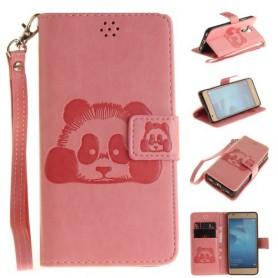 Huawei Honor 7 Lite vaaleanpunainen panda puhelinlompakko